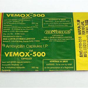 Köpa amoxicillin: Vemox 500 Pris